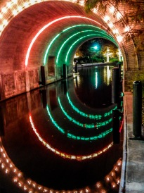 Waterway Tunnel at Night